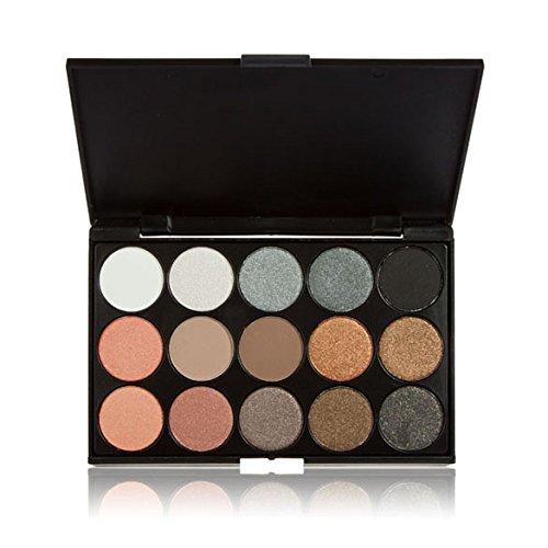 Rrimin 15 Colors Eye Shadow Makeup Shimmer Matte Eyeshadow Palette Set (01)