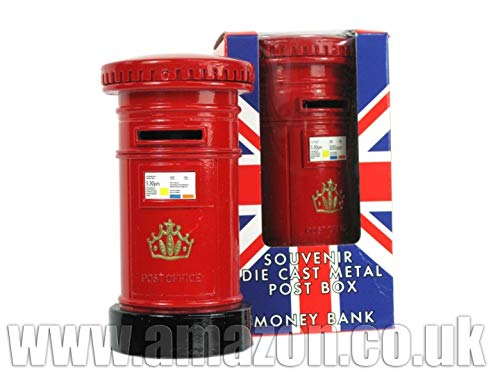 London Red Post Box Spardose, aus die Cast Metall, London Collectable Souvenir-65229 (Stores British Beleuchtung Home)