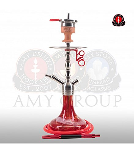 AMY Little Hammer SS10 red   Edelstahl Shisha Wasserpfeife ()