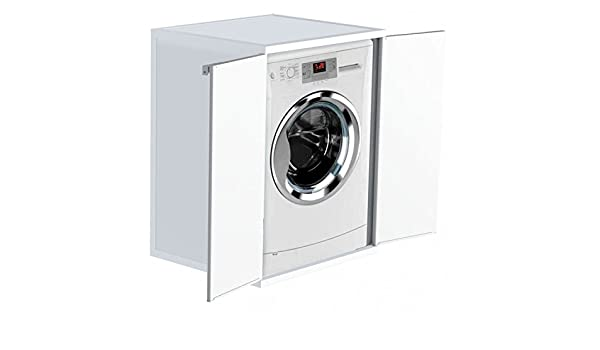 Ideapiu mobile copri lavatrice copri lavatrice con due ante battenti
