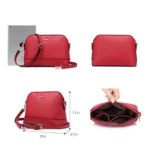 Borsa Donna Tracolla Borsa Spalla Borse a Mano Moda Elegante Borsa Shopping Bag Nero Cachi