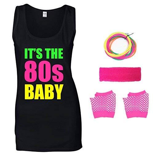 It's The 80s Baby Ladies Vest & Accessories, Sizes 8 to 16