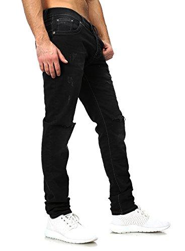 Jeans Vêtements Maigre Homme détruit Redbridge Serré Mince Fit proche toile Hommes Löchern Fissures Noir Noir