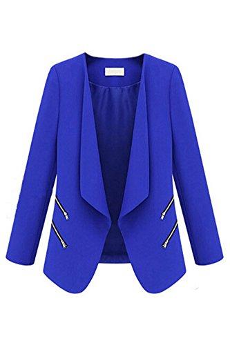 SODIALR-Vintage-Women-Basic-Slim-Suit-Foldable-Blazer-Slim-Fit-Jacket-Cardigan-Outwear-Blue-XL