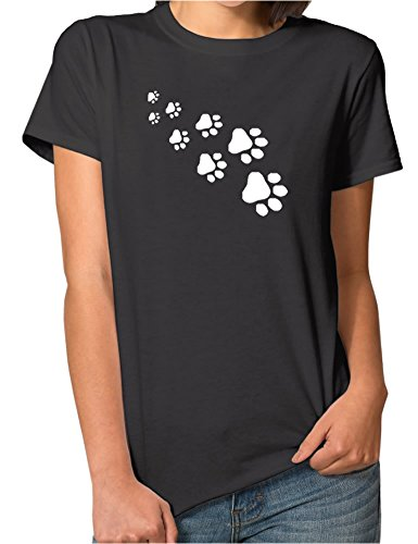 Peceony Dog Paws Printed Short Sleeve Ladies T Shirts Design for Women