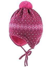 maximo Baby-Mädchen Mütze, Punkte, Streifen, Bindeband