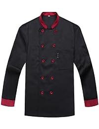 Camisa de Cocinero Cocina Uniforme Manga Larga
