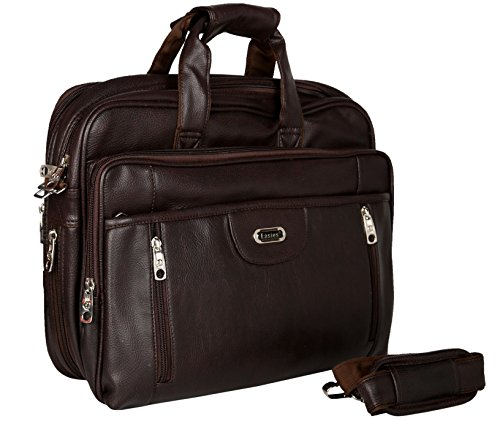 Synthetic Leather 15 inches With Secret Pocket Easies Brown Color Executive Office Bag