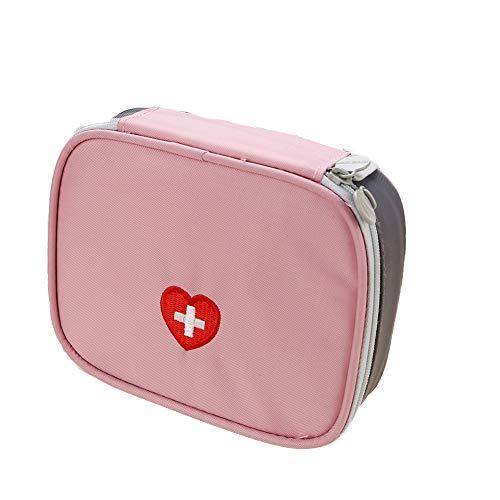 Mudacun Tragbare Mini-Erste-Hilfe-Tasche Reisemedizin Tasche Medizinische Aufbewahrungstasche für Outdoor