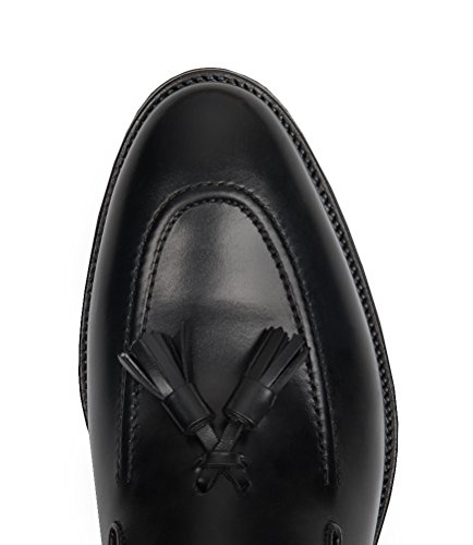 HAWES & CURTIS Homme Tassle Chaussures À Enfiler Regular Fit Loafer Noir