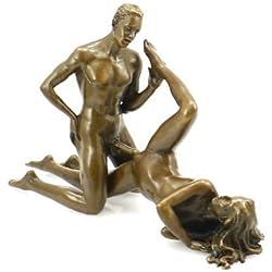 Kunst & Ambiente - Erotische Bronzefigur - Liebespaar beim Sexspiel - signiert von J. Patoue - Skulpturen kaufen - Sexy Figuren - Frauen Akt - Heiße Sexy Frauen - Erotik Figur