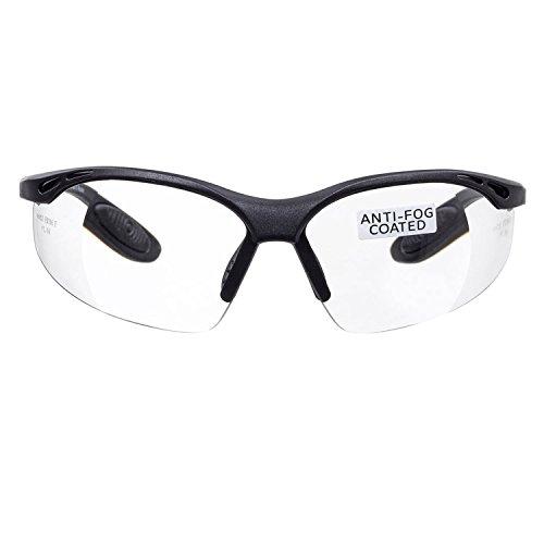 5 Dioptrien Glas-linse (voltX 'Constructor' Schutzbrille +1,50 Dioptrien mit Sehstärke inkl. Sicherheitskordel mit Stopper - farblos - LESERSCHUTZBRILLE Vergrößerung linse Schutzbrille mit Lesehilfe)