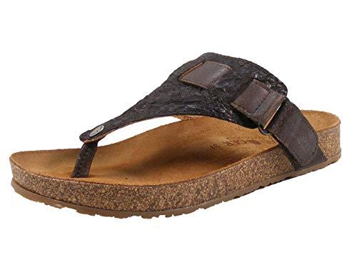 HAFLINGER 819054-0 Bio July Damen Pantoletten Zehentrenner Clogs, Schuhgröße:37 EU, Farbe:Braun -