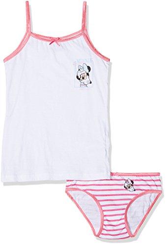 Disney minnie, completo intimo bambina, rosa (amarena 332), 122 (taglia produttore:6/7 anni)