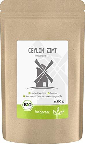 BIO Ceylon Zimt - fein vermahlen - 100% naturrein - Zimtpulver - 500 g - bioKontor