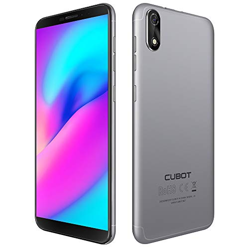 Cubot J3 Dual SIM Smartphone ohne Vertrag (5 Zoll 18:9 Full-Wide Display, 16GB Interner Speicher, Android 8.1 Oreo(Go Edition), 8MP+5MP Dual Kamera, 2000mah Akku) (Silber)