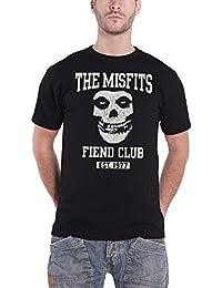 Misfits T Shirt Fiend Club Band Logo Established 1977 Offiziell Herren Nue