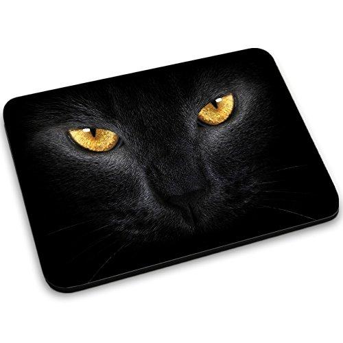 Frau Starke Mac (Katzen 10034, Schwarze Katze, Mousepad Anti Rutsch Unterseite für Optimalen Halt Kompatibel mit allen Maustypen (Kugel, Optisch, Laser) Ideal für Gamer und für Grafikdesigner.)