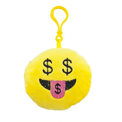 lux-accessories-yellow-emoji-money-hungry-face-fabric-pillow-bag-charm-keychain