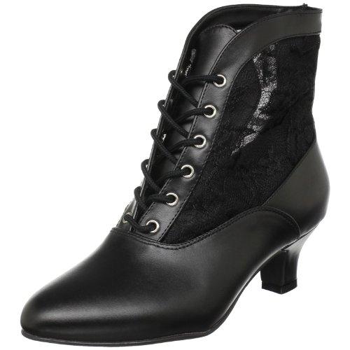 Pleaser Dame05/b/pu, Damen Kurzschaft Stiefel, Schwarz (Black), 41 EU (8 UK) (Halloween-kostüm-clearance)