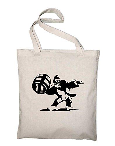Banksy Kong Jutebeutel, Beutel, Stoffbeutel, Baumwolltasche Natur