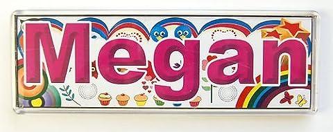Porte-nom personnalisé pour chambre Inscription/carrelage/Magnet cadre Megan ~