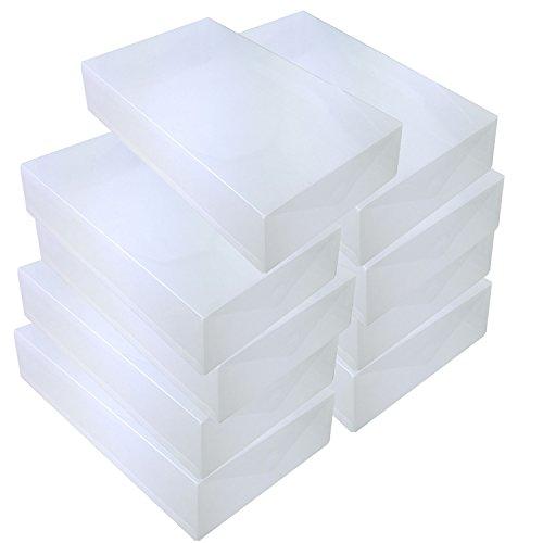 DYNASUN 9X PP436 Schuhbox Schuhkasten Lagerkasten Box Schuhschachtel für Aufbewahrung Stiefel Faltbare Halter für Damen und Herren