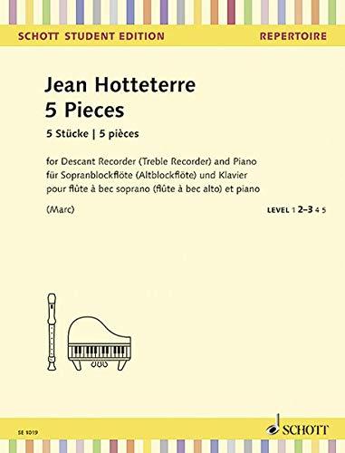 5 Stücke: aus: Die Ländliche Hochzeit. Sopran-Blockflöte (Alt-Blockflöte) und Klavier. (Schott Student Edition - Repertoire)