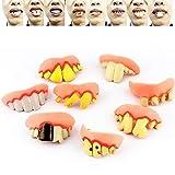 Queta Vampire Zombie Diente Divertido Dentures Abril Fools Día Mayorista Juguetes Halloween Tricky Fake Dentures As Shown 1