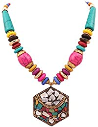 The Lakh Metal Multicolor Necklace ( Fashion Jewellery) For Womens Nek1