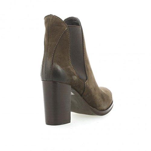 Nuova riviera Boots cuir nubuck marron Marron