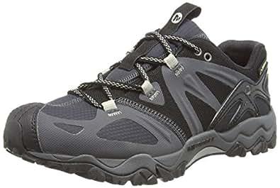 Merrell Grassbow Sport Gore-Tex, Men's Hiking Shoes, Black (Black/Silver), 7 UK (41 EU)