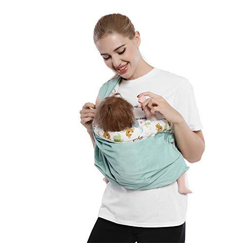 Cuby Baby Slings Carrier für Neugeborene und Stillen (Blue animals)