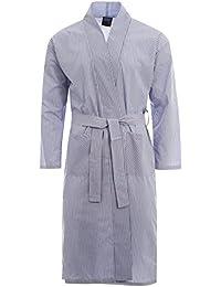 7848fa0885 Harvey James Easy Care Poly Cotton Men s Dressing Gown Robe Wrap Loungewear  M - XXL