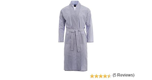 Harvey James Summer Poly Coton Homme Kimono Robe De Chambre Peignoir Wrap