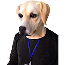 Dorado Labrador Perro Máscara Completo de látex Elegante Fiesta CANINO Animal Máscaras