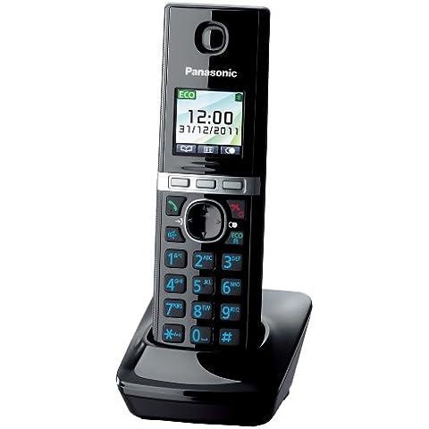 Panasonic KX-TGA806EXB - Teléfono fijo digital (inalámbrico, pantalla TFT, manos libres), negro