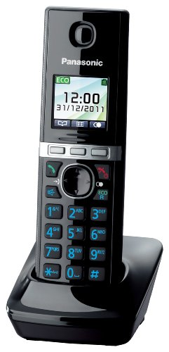 Panasonic KX-TGA806EXB Mobilteil für KX-TG805x/806x Serie mit Ladeschale schwarz