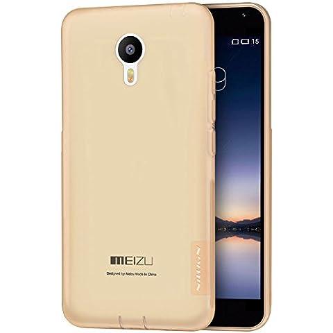 Per Meizu m2 note , Leathlux Semplice Ultra Sottile Morbido Flessibile Trasparente Silicone TPU Custodia Cover Case per Meizu m2 note / Blue Charm Note2 5.5