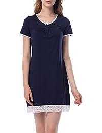 Pijama Mujer Camison Verano Manga Corta Vestido De Dormir Camisa De Noche Ropa De Dormir con