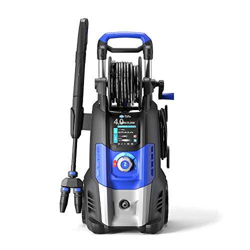 Ar blue clean 4.0 twin flow idropulitrice ad alta pressione con dualtech system (2500 w, 150 bar, 810 l/h), blu