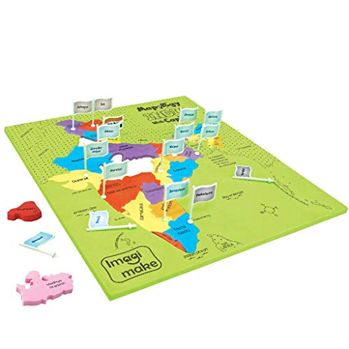Imagimake Mapology India With State Capitals - Educational Toy And Learning Aid Puzzle-Jigsaw Puzzle