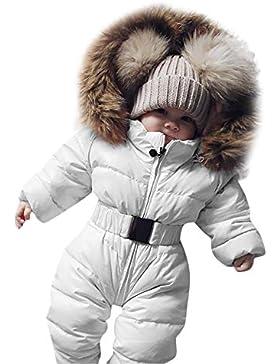 Covermason Baby Babykleidung Neugeborene Winter,Säuglingsbaby Junge Mädchen Spielanzug Strampler Jacke Mit Kapuze...