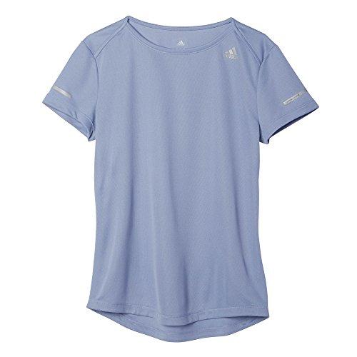 adidas Damen Sequencials Run Kurzarm laufshirt, Blassblau, S, AI7967 (Adidas Climalite Tee Short Sleeve)