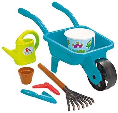 Ecoiffier- Carretilla y Sus Herramientas - Herramientas de jardín para niños - a Partir de 18 Meses - Fabricado en Francia 4558