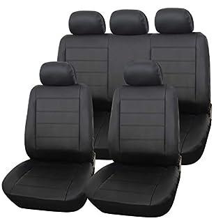 eSituro SCSC0170 Auto Schonbezug, Sitzbezüge für Auto, Dicke gepolstert, universal, schwarz