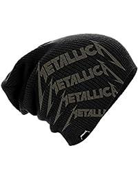 Metallica Beanie Cap Distressed Classic Spiked Logo officiel nouveau Noir slouch