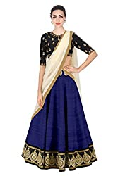 New Latest Designer Party wear Navy blue and Black Color Bridal Look Heavy Embroidred Banglori silk New Fashionable Lehngha For Women and Girl