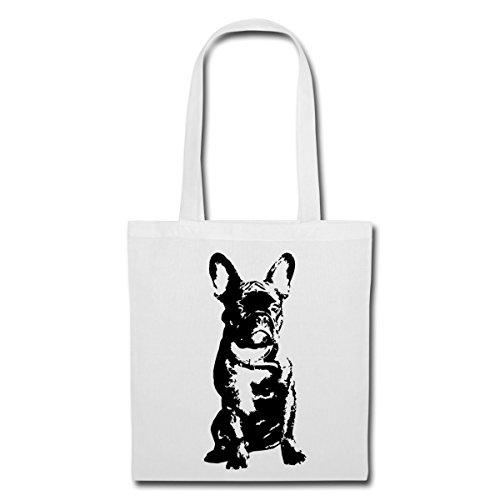 Spreadshirt French Bulldog Fanzösische Bulldogge Frenchie Stoffbeutel Weiß