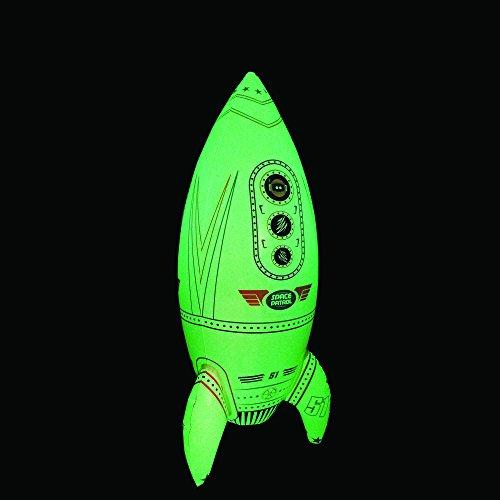 Goodtimes Rakete aufblasbar - leuchtet im Dunkeln - Spielzeug für Astronauten